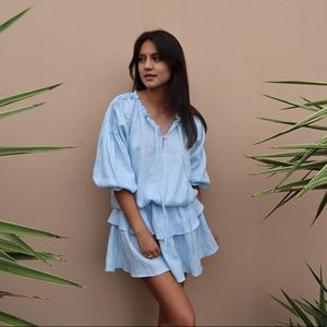 NWT Dusty Blue Louley Dress
